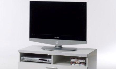 Napoli TV-bord – Hvidt træ, m. skuffe