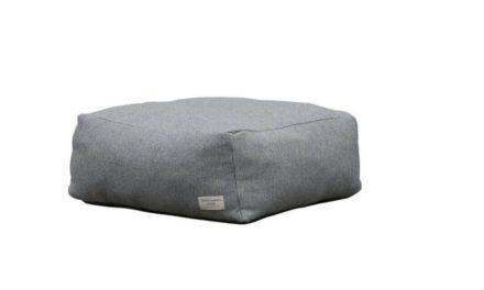 TROISPOMMESHOME Lounge puf – lysegrå Olefin stof