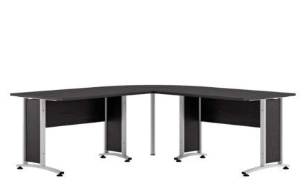 Prima stort skrivebord – Sort ask
