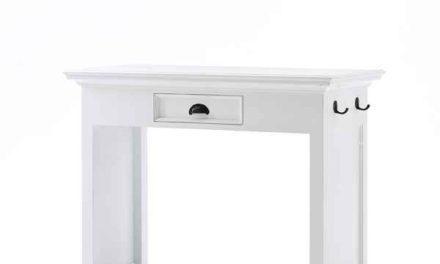 NOVASOLO Halifax spisebord – hvid m. to stole med hynder