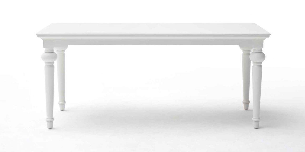 NOVASOLO Provence spisebord – hvid (200×100)