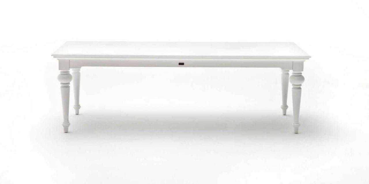 NOVASOLO Provence spisebord – hvid (240×100)