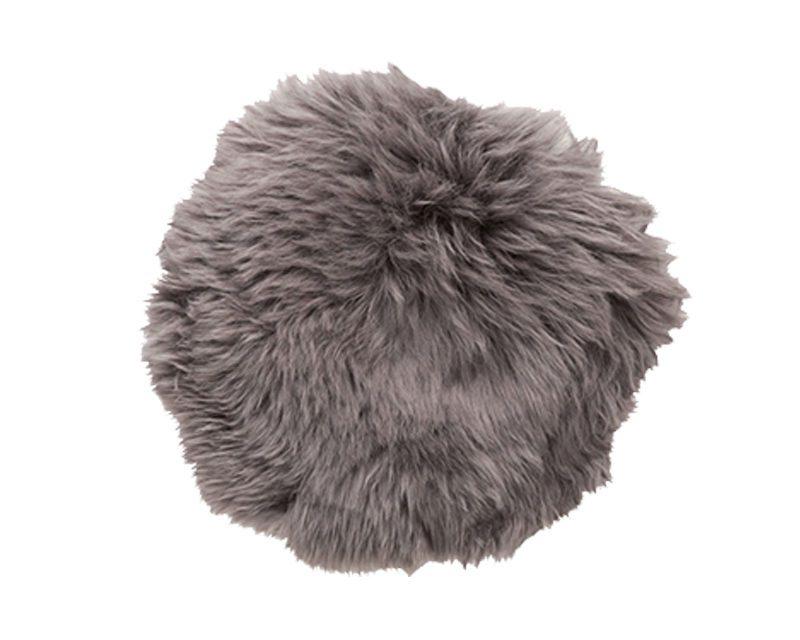 HÜBSCH Grå stolehynde, korthåret
