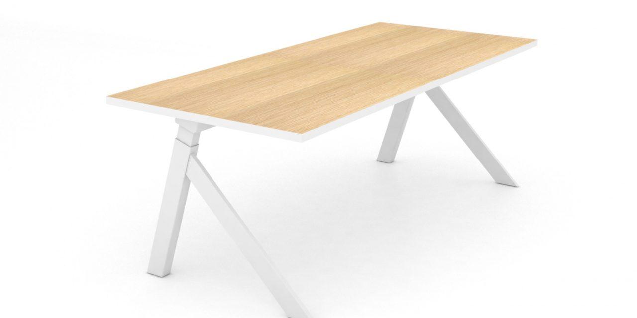 JENSENPLUS K2 hæve/sænke skrivebord, Hvid, MDF