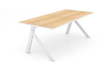 JENSENPLUS K2 hæve/sænke skrivebord, Hvid , MDF