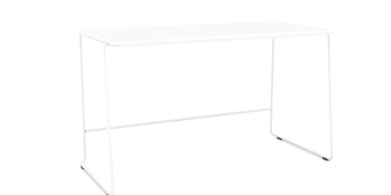 JENSENPLUS FM Note skrivebord, Hvid, Laminat på krydsfinér