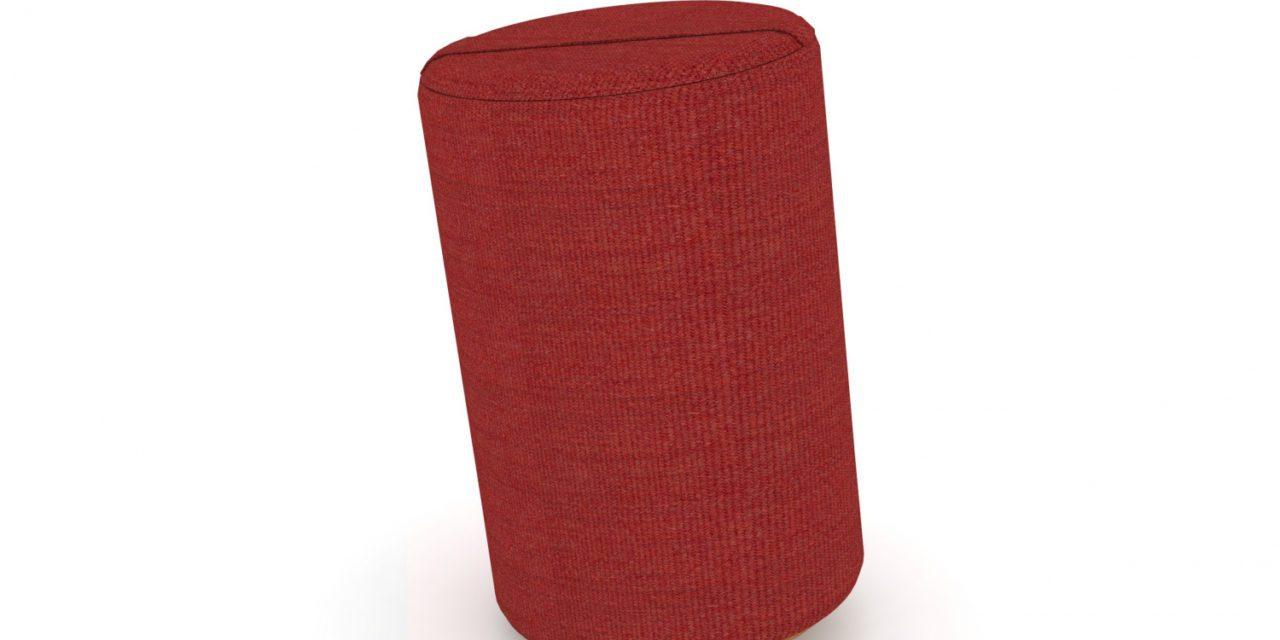 JENSENPLUS K2 puf, ergonomisk – Rød