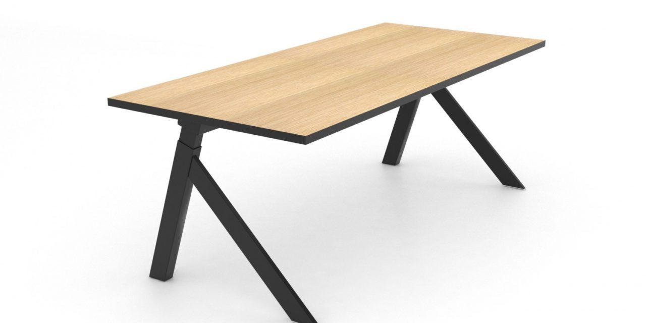JENSENPLUS K2 hæve/sænke skrivebord, Sort, MDF