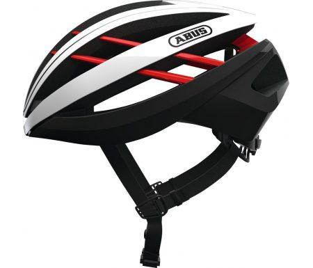 Abus Aventor – Cykelhjelm – Hvid / sort / rød