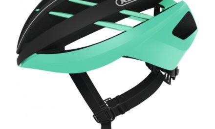 Abus Aventor – Cykelhjelm – Sort / celeste grøn