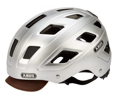 Abus Hyban Centium cykelhjelm – Sølv – LED lygte