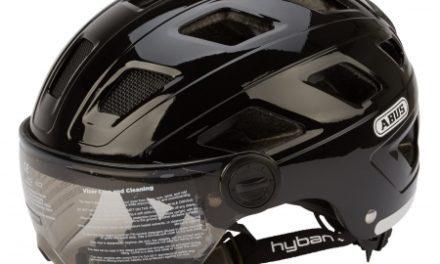 Abus Hyban+ cykelhjelm – Mørkt visir – Matsort