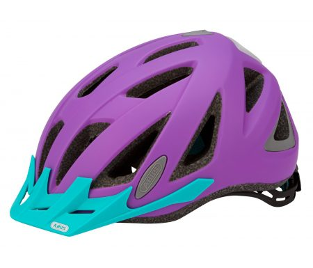 Abus Urban-I v.2 cykelhjelm – Str. 52-58 cm – Neon lilla – Integreret lygte