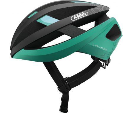 Abus Viantor – Cykelhjelm – Sort/celeste grøn