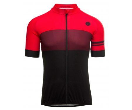 AGU Jersey SS Bloc – Cykeltrøje – Rød/Bordeaux/Sort
