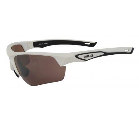 AGU Medina HD – Sports- og cykelbriller med 3 sæt linser – Hvid