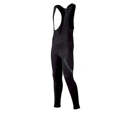 AGU Pro Light Winter Wind – Cykelbukser bibtights med pude – Herre – Sort