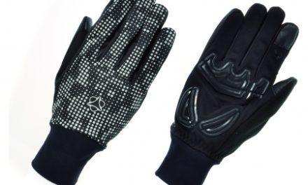 AGU Windproof II Hivis – Reflekterende cykelhandsker – Sort/Novatryk