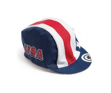 Assos USA Cap – Kasket – Blå/hvid/rød