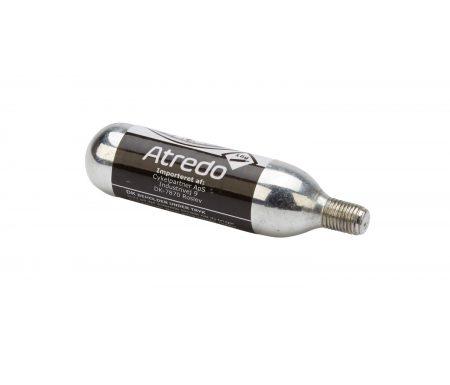 Atredo  – CO2 Patron – 16 gram – Med gevind – Til co2 cykelpumpe – Blank