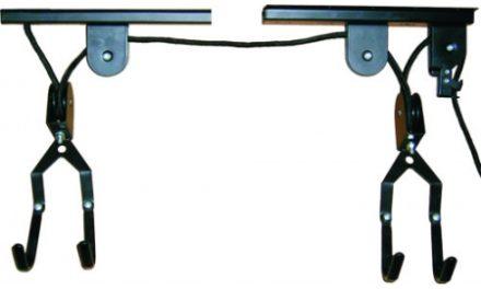 Atredo – Cykelophæng med snoretræk – Til montering i loftet – Sort