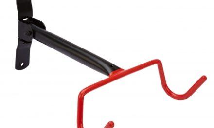 Atredo – Cykelophæng til væg – Cyklen hænger i overrøret – Sort/rød