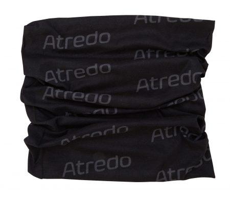 Atredo – Halsedisse – Polyester – Sort med grå logoer