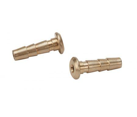 Atredo – Hydraulisk nippel – Til Hayes/Tektro – 2.5mm – Messing – 2 stk.