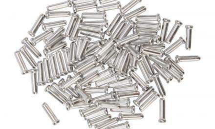 Atredo – Kabelender til gear/bremsewire – Sølv – 100 stk.