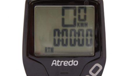 Atredo – M10- Cykelcomputer med 10 funktioner – Trådløs – Sort