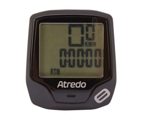Atredo – M8 – Cykelcomputer med 8 funktioner – Trådløs – Sort