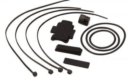 Atredo – Monteringssæt til cykelcomputer – Magnet – Gummimuffer og bånd – Med magnet