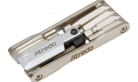 Atredo – Multitool – 9 funktioner – Med kædeadskiller – Blank