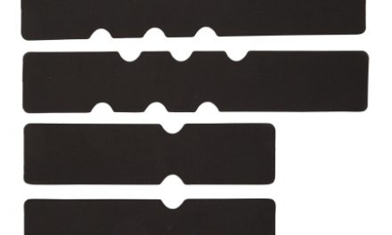 Atredo – Neopren skum indlæg til styrbånd – Sæt med 4 pads – Sort neopren