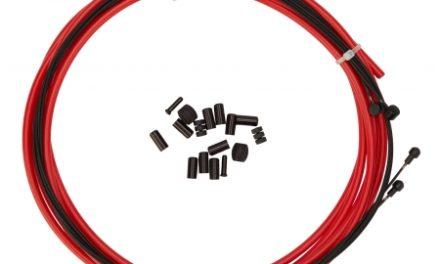 Atredo – Premium Kevlar/Teflon Bremsekabel – 5 mm – Rød – Sæt til for og bag