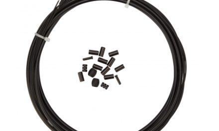 Atredo – Premium Kevlar/Teflon Bremsekabel – 5 mm – Sort – Sæt til for og bag