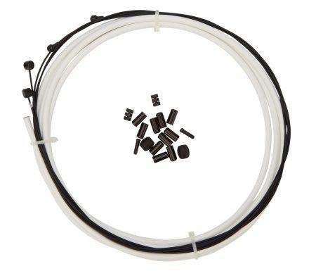 Atredo – Premium Kevlar/Teflon Bremsekabel – 5mm – Hvid – Sæt til for og bag