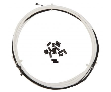 Atredo – Premium Kevlar/Teflon Gearkabel – 4 mm – Hvid – Sæt til for og bag