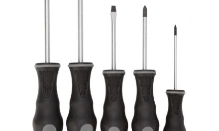 Atredo – Skruetrækkersæt – Stjerne og almindelig- 5 stk – Sorte håndtag