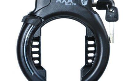 AXA – Block XXL – Ringlås u/bolte – Sort – Ekstra bred