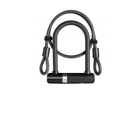 AXA Newton Pro Mini – Bøjlelås med 2 nøgler og LoopWire – Sort