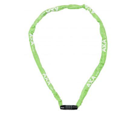 AXA – RIGID – Kædelås til børn – 1200X3,5mm m/kode – Grøn