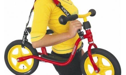 Bæresele til Puky løbecykel – Sort/rød