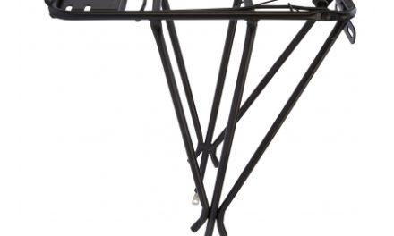 """Bagagebærer 26-28"""" i Aluminium med stål klap Sort"""