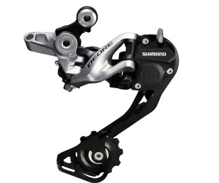 Bagskifter Shimano Deore 3 x 10 gear Shadow RD+ Sølv