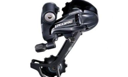 Bagskifter Shimano Deore 3 x 9 gear Sort