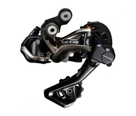 Bagskifter Shimano XTR Shadow RD+ 11 gear Sort Di2 med kort arm