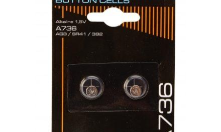 Batterier 2 stk. Alkaline SR41/AG3/392