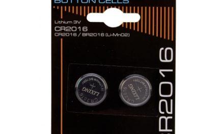Batterier Lithium CR2016 3V. 2 stk