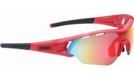 BBB –  Løbe- og cykelbrille Summit – 3 sæt linser – Rød